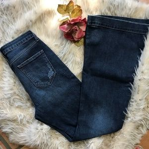 Cello Jeans Distressed Ripped Flare 11